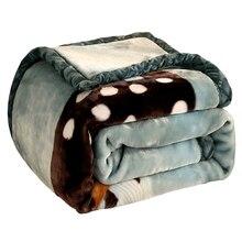 Dos desenhos animados Impresso Macio Morno Grosso Raschel Mink Cobertores Para Camas Cobertores Dupla Camada Única Cama de Casal Inverno Quente Difusa Chunky