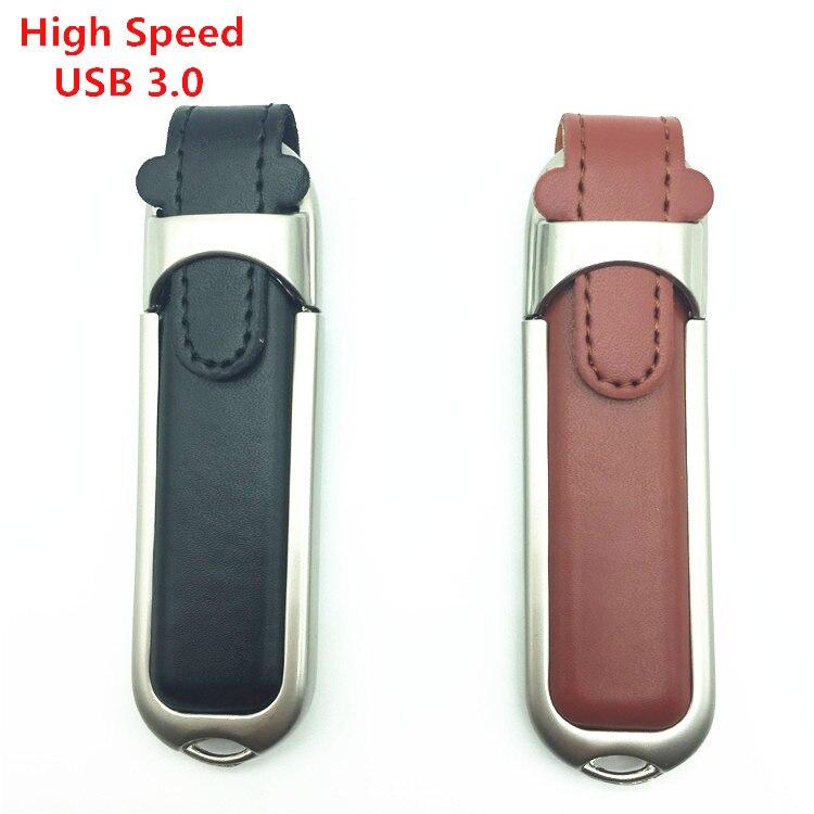 De alta velocidade usb 3.0 Pen Drive GB 16 8 GB GB 64 32 GB Couro Unidade Flash USB cartão 128G mini minions Pendrive memory stick usb key