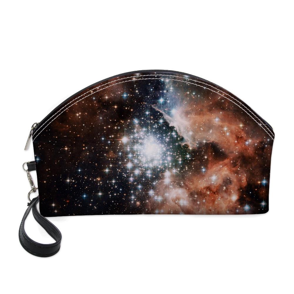 Bolso cosmético FORUDESIGNS Galaxy Planet, estuche de maquillaje profesional para mujer, bolsas de lápices transparentes, neceseres, maquillaje de pantalones