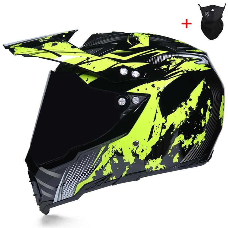 Casco de moto todoterreno envío gratis para hombre, casco de seguridad de cuatro carreteras