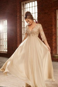 vestidos de gala Champagne Long Prom Dress Sexy Beaded Pearls Floor Length Lace Women Arabic Evening Gowns
