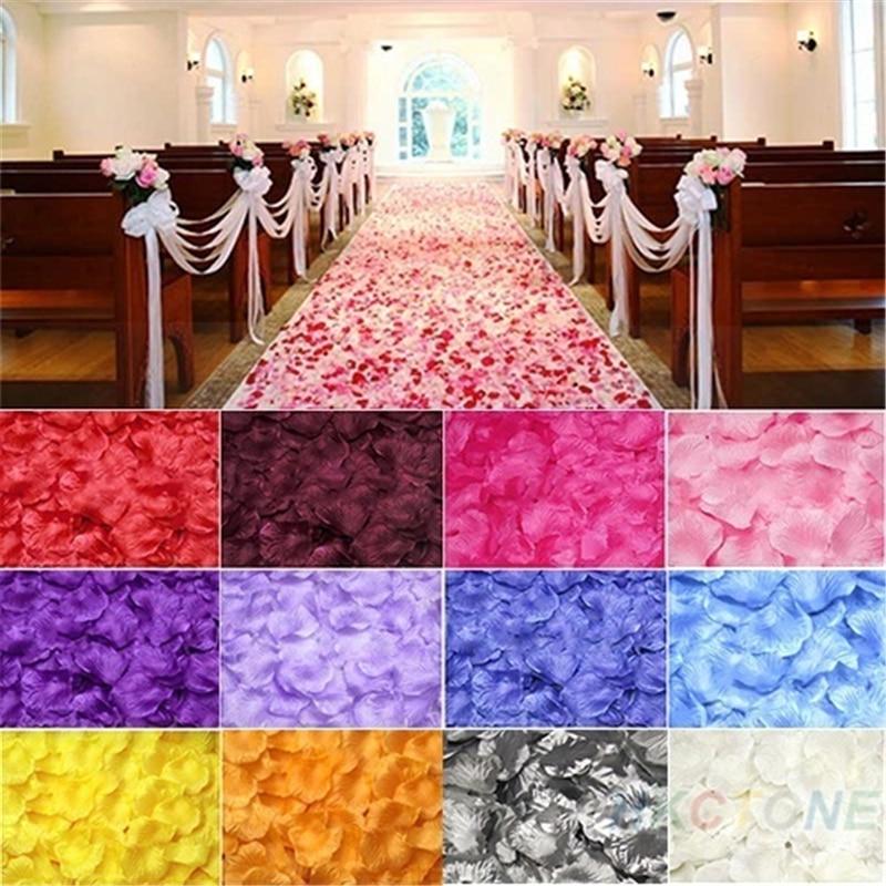 500pc flores artificiales de rosa de seda Novia a ser pétalos de decoración de la boda flores de la Mesa despedida de soltera decoración de fiesta boda, B