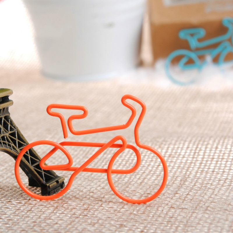 Bicycle clip electric bicycle multicolour paperpaper needle metal bookmark clip befriend metal sports paper clips
