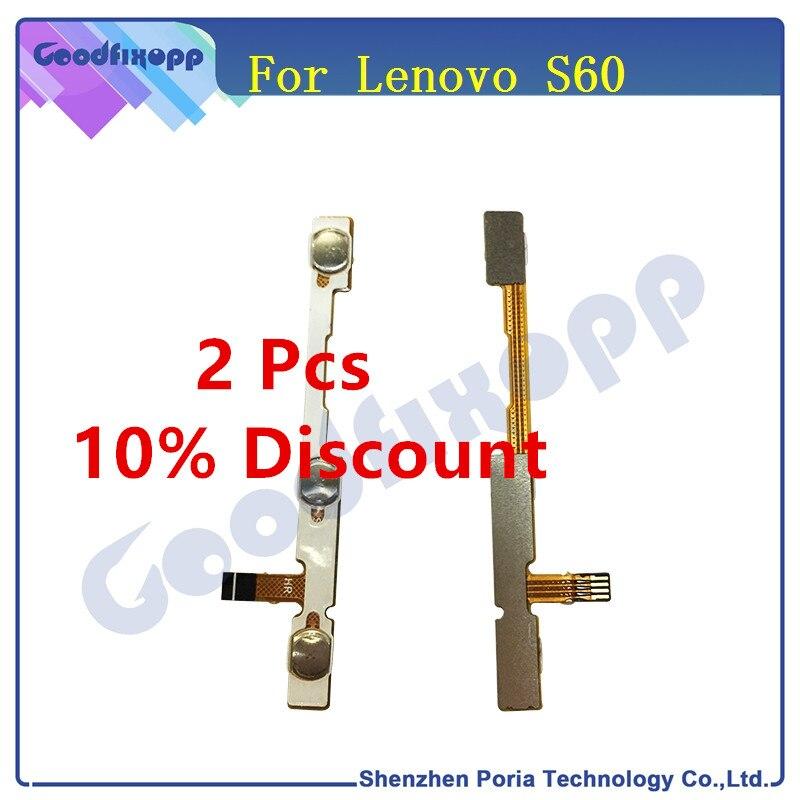 Original para Lenovo S60 volumen y encender y apagar botón arriba abajo Cable Flex cintas de partes de reemplazo para Cable de alimentación Lenovo S60
