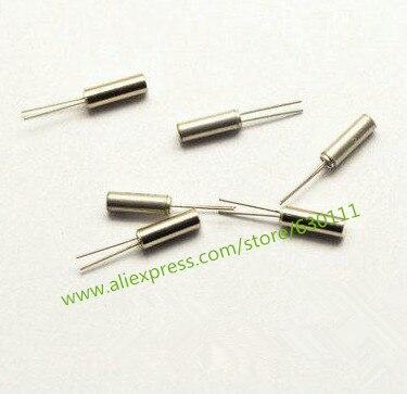 20 pces 32.768 khz 32.768k cristal cylender 3*8mm oscilador