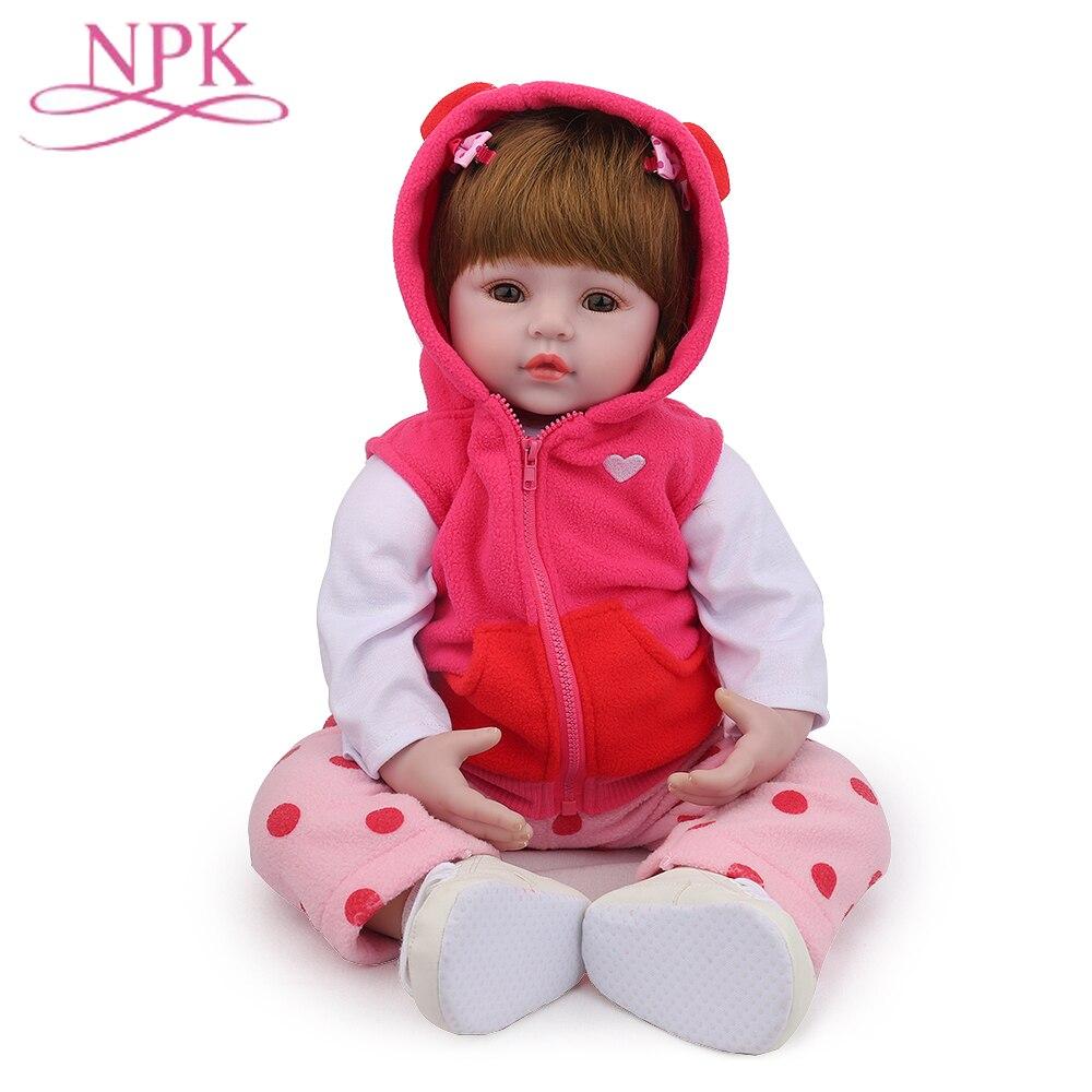 NPK Bebes Reborn muñeca realista suave De silicona renacer muñecas del bebé Com Corpo a Corpo De silicona niña bebé regalo De muñecas De Navidad Lol muñeca