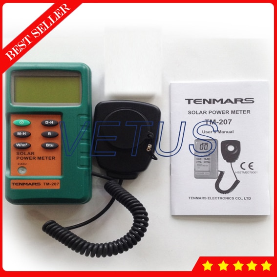 Medidor de corriente Solar tipo Split, Detector de radiación Solar, medidor de TM-207