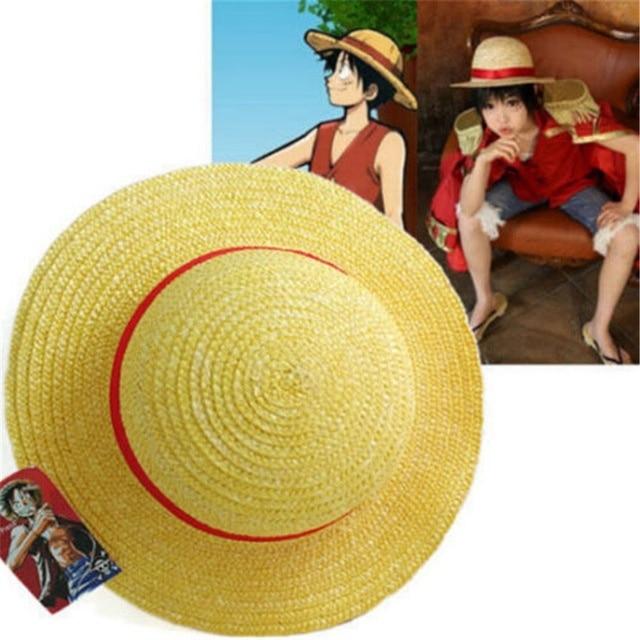 AliExpress - Cosplay Japanese cartoon props hat Luffy strawhat one piece hat children/adult Straw Hat Visor