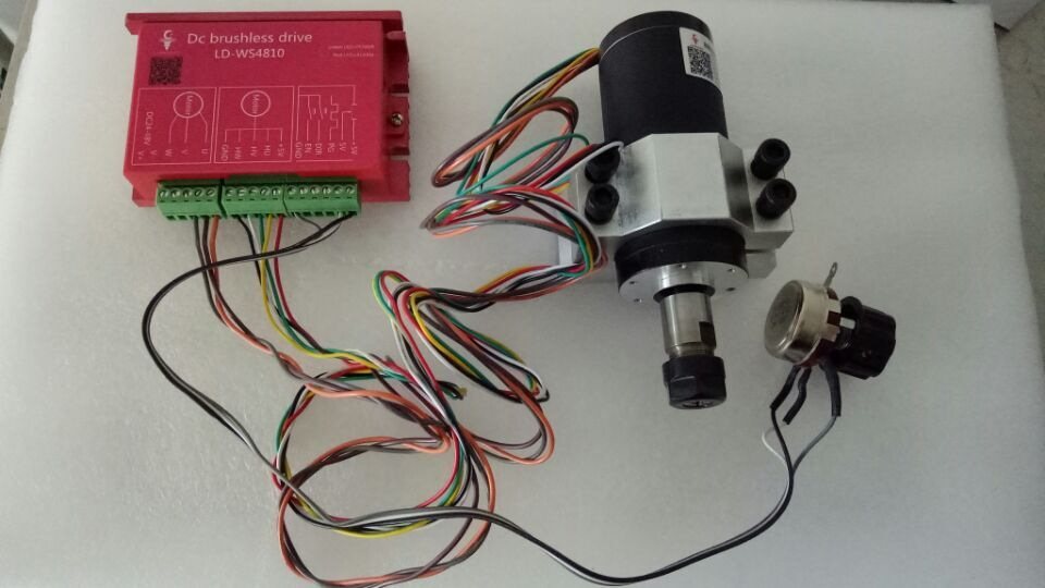 250w ER11 12000rpm BLDC spindle motor&MACH3 Driver&switch power supply&mount bracket CNC kits