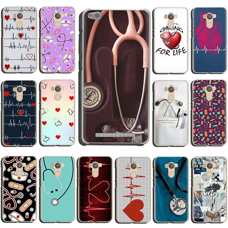 Enfermera médico salud medicina duro de corazón funda de teléfono para Xiaomi Redmi 5A 5 Plus 6A 6 Pro 7 ir Nota 4 4X 5 5 5 6 6 7 8 Pro