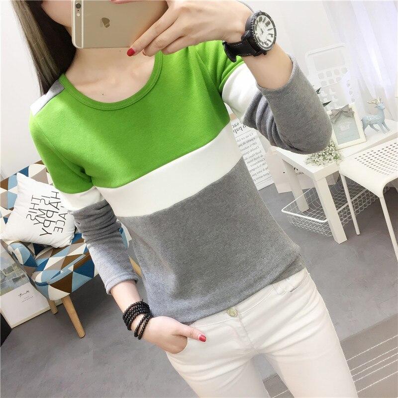 2020 Plus velvet basic Spring and winter thickening thermal long-sleeve T-shirt women's slim basic top