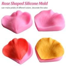 Moule en forme de Rose Silicone 2 pièces/ensemble   Moule en forme de pétale, outils de décoration de gâteau, Fondant fleurs 3D moule à gâteau de mariage