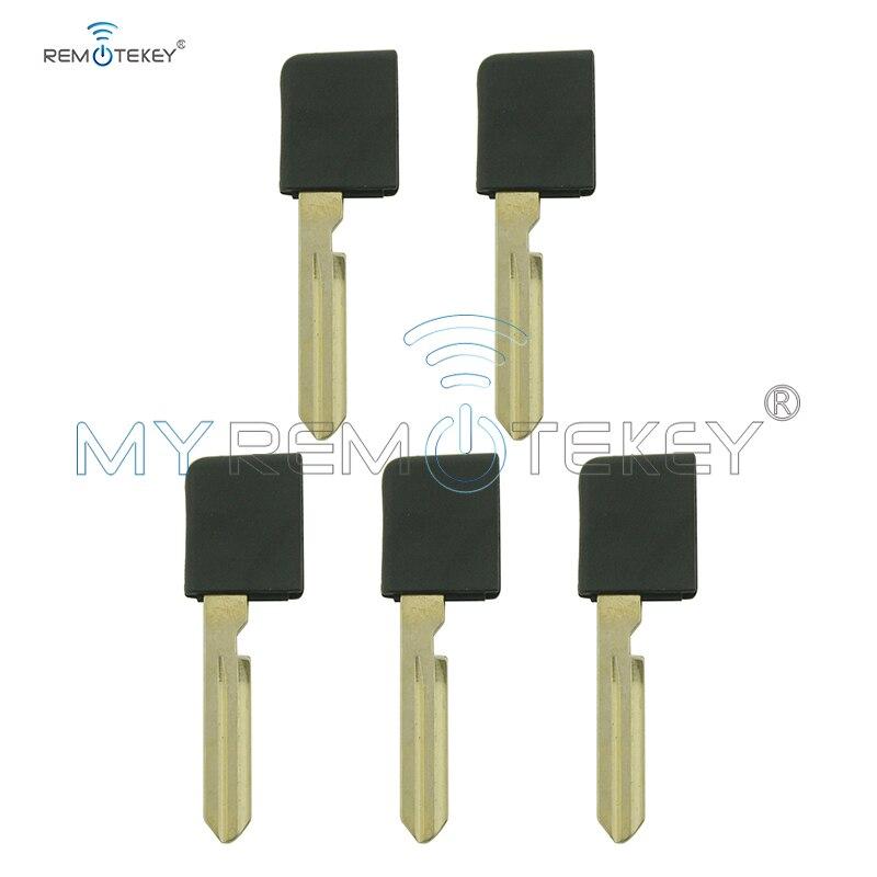 Remtekey NSNEK000601 5pcs spare small uncut key blade NSN1 for NISSAN TEANA Emergency key blank insert blade no chip
