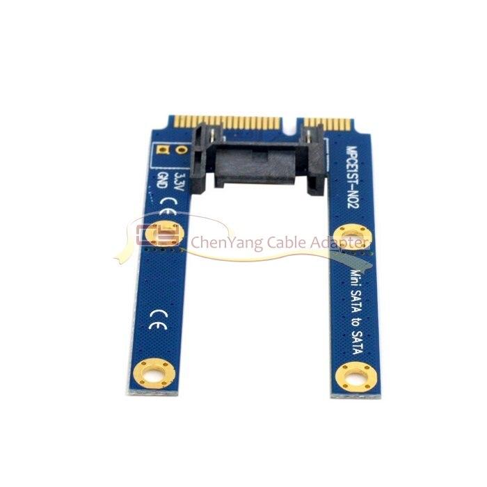 CY 50mm Mini PCI-E mSATA SSD plana SATA 7pin Disco Duro PCBA adaptador de extensión
