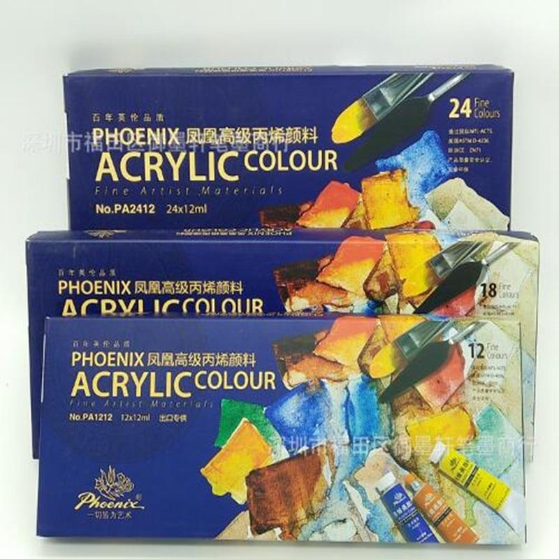 Marca Phoenix tinta acrílica pintura 12/18/24 cor roupas T-shirt de pano pintura a óleo pintura de parede pintura profissional pintura