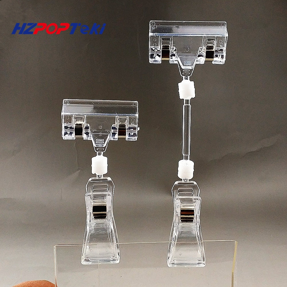 Top Max. Open 13mm Clear Plastic POP Sign Clips Holders Price Label Tag Promotion Paper Card Display Advertising 2000pcs
