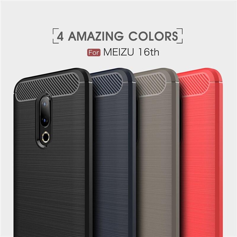 Sfor meizu 16th caso silicone macio coque caso do telefone para meizu 16 capa para meizu 16 th coque fundas 6.0 polegada