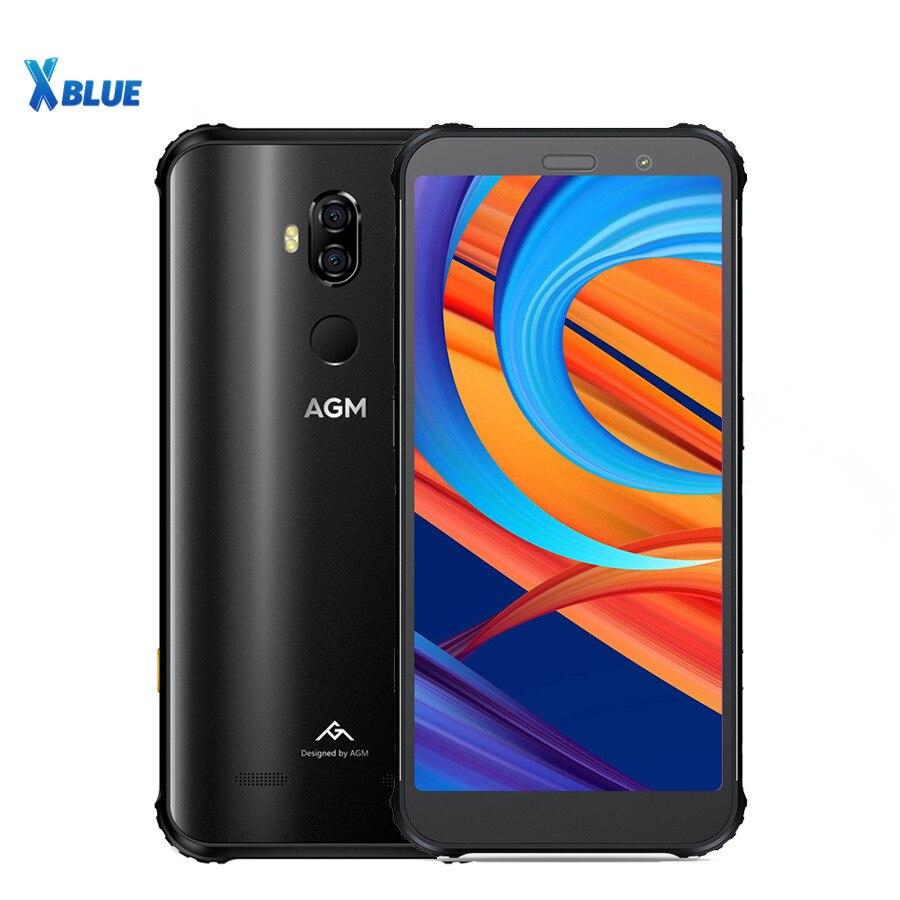 "Nuevo robusto AGM X3 Smartphone 6GB 64GB IP68 impermeable Snapdragon 845 5,99 ""NFC 12MP + 24MP Dual SIM 4100mAh huella digital teléfono celular"