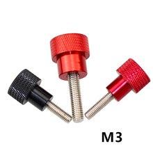 10 pièces M3 tête moletée en aluminium en acier inoxydable