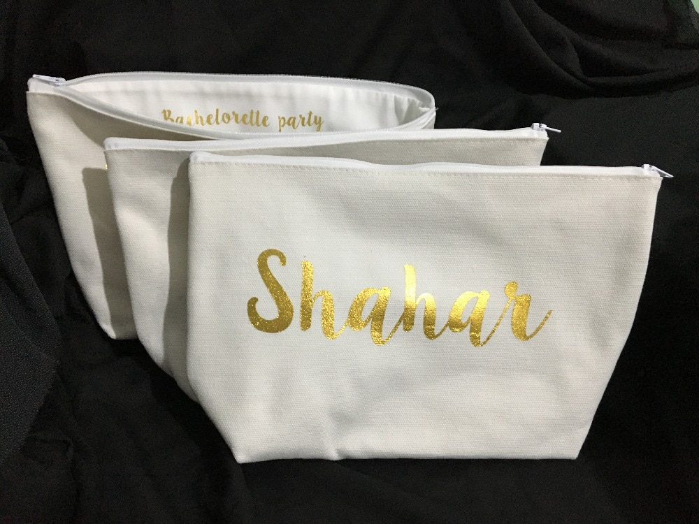 personalised design names makeup toiletry kits bridesmaid wedding Gift Make Up Bags Unique Gift for Bridal Party favors