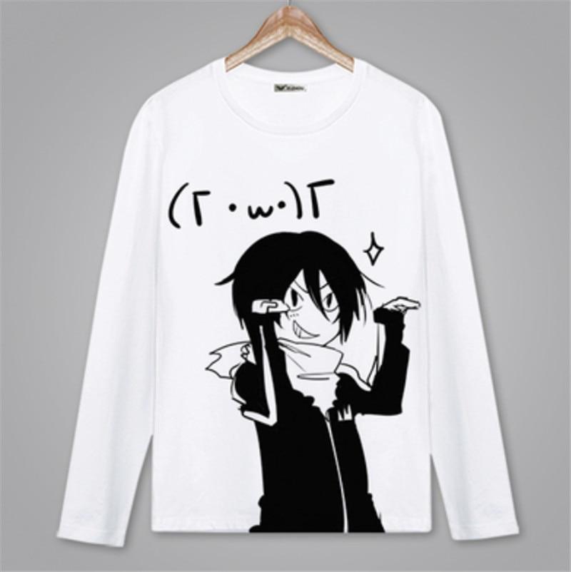 Anime noragami camiseta primavera outono manga longa t camisa roupas unisex adultos criança casual poliéster camisa