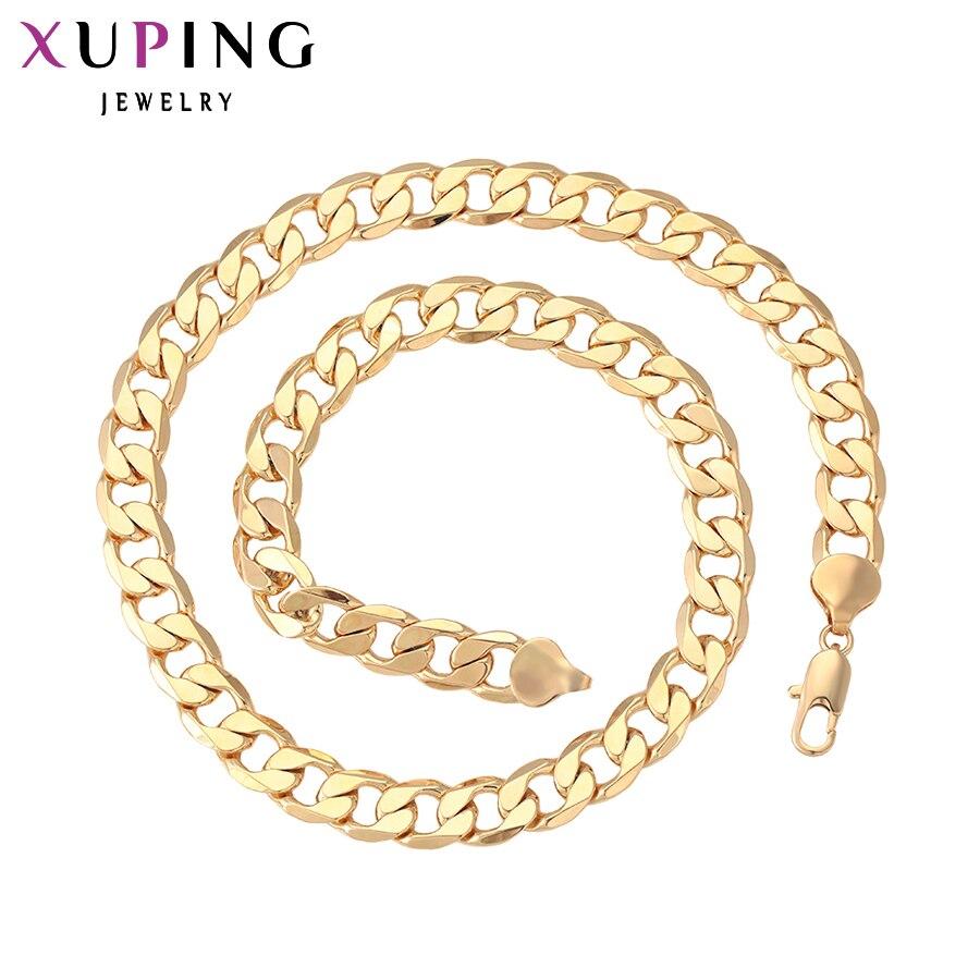 Xuping collar de moda de alta calidad diseño especial Color dorado plateado gran colgante collar joyería encanto regalo 40879