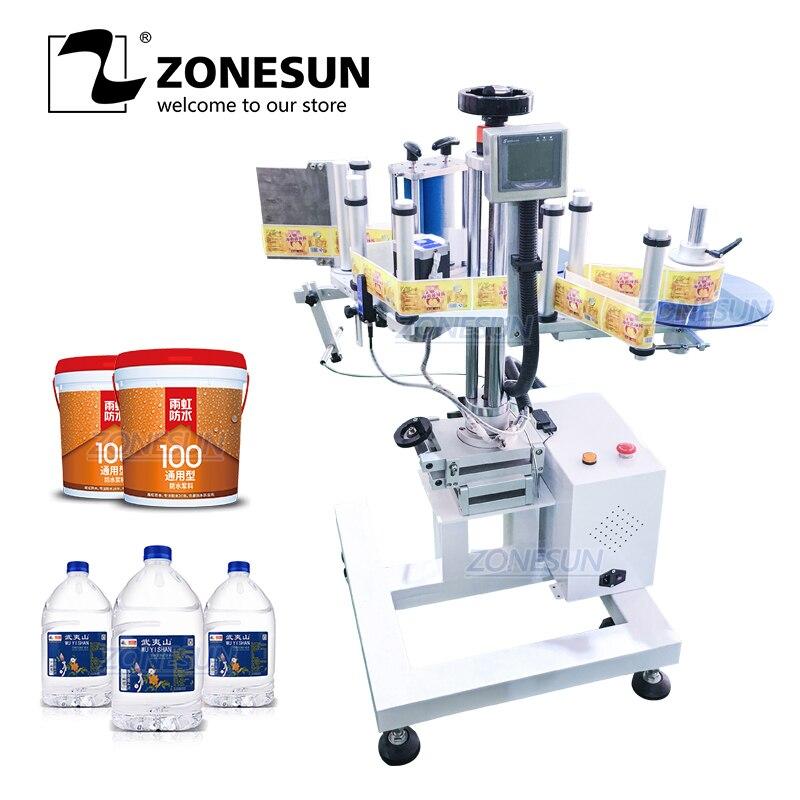 Máquina automática de etiquetado de Superficie redonda portátil XL-T852 ZONESUN, máquina aplicadora de etiquetas, etiquetadora de adhesivos de fábrica