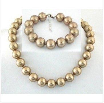 Bien, 12mm southsea champán collar de perlas Concha BRACE