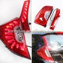 Pour Honda Fit Jazz feu arrière LED hayon 14-UP lentille claire boîtier rouge