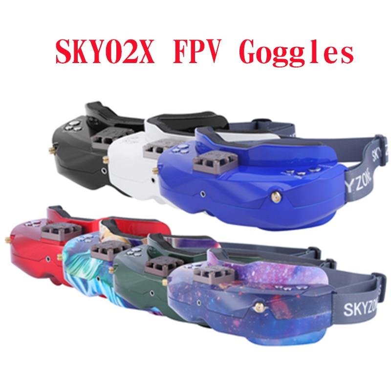 SKYZONE SKY02X 48CH 5,8 Ghz FPV gafas de apoyo 2D/3D HDMI Seguimiento de cabeza con ventilador DVR cámara para RC avión de carreras de FPV Drone
