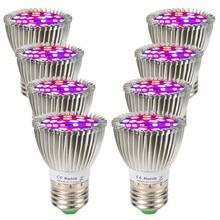 (8/Pack) 28W 28LED E27 LED grandir lumière spectre complet pour les plantes dintérieur système hydroponique à létranger entrepôt expédition rapide