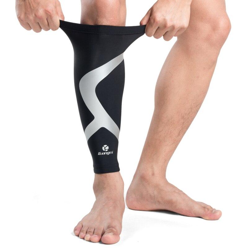 Kuangmi, Mangas de compresión para pantorrilla, soporte de seguridad para deportes, espinillera para correr, rodillera, protector para fútbol
