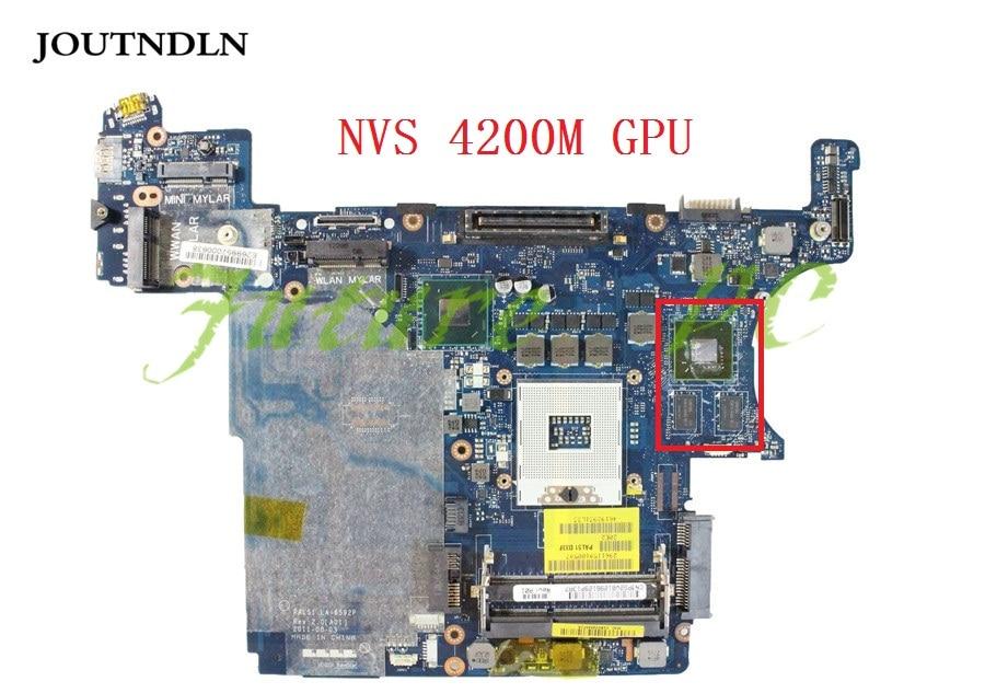 JOUTNDLN para Dell Latitude E6420 XFR placa base de computadora portátil PG2V8 0PG2V8 CN-0PG2V8 DDR3 LA-6592P W/NVS 4200M GPU de trabajo
