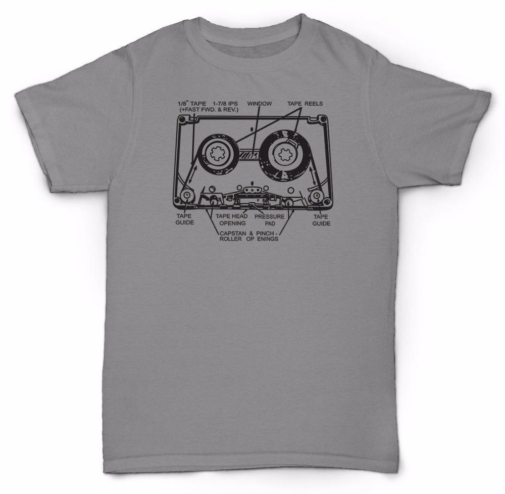 Nueva Marca-Ropa Camisetas imprimir camiseta hombres Hot cassette RETRO 80s vinilo SOUL JAZZ RAP película camiseta
