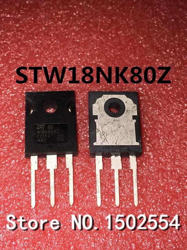 20 unids/lote STW18NK80Z W18NK80Z-247 18A800V Transistor de efecto campo