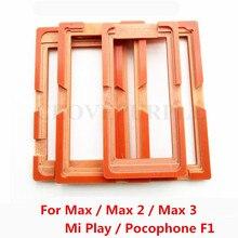 1 pçs cola molde tela lcd suporte de molde de vidro para xiao mi mi jogar pocophone f1 max 2 3 max2 max3