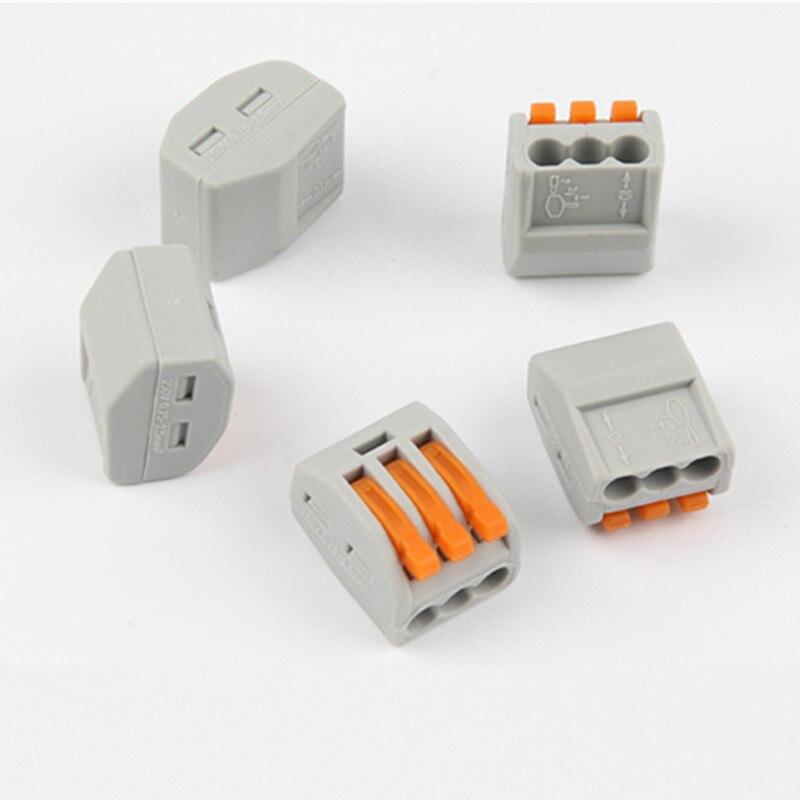 10 Uds. PCT213, resorte reutilizable, palanca de crimpado, bloque de Terminal, Cable...