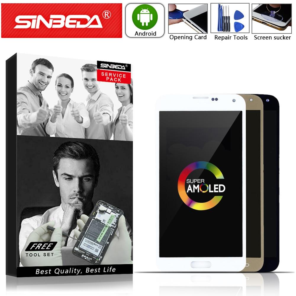 Super AMOLED para SAMSUNG Galaxy S5 NEO digitalizador de pantalla LCD táctil para reemplazo para SAMSUNG S5 Neo pantalla SM-G903M G903F G903 LCD