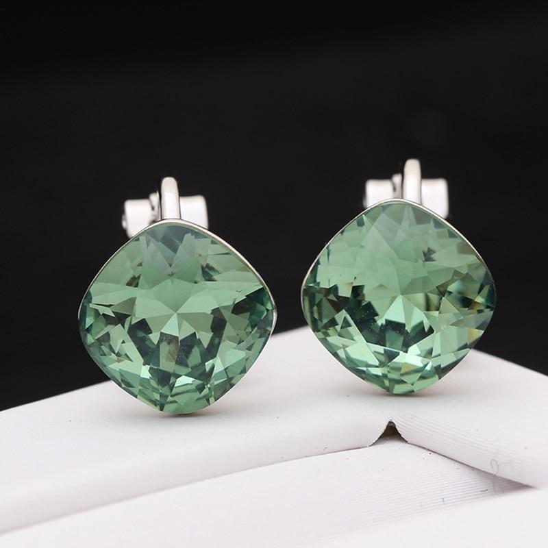 Exquisite crystal ear clip Korean version of temperament earrings without earrings earrings female gift