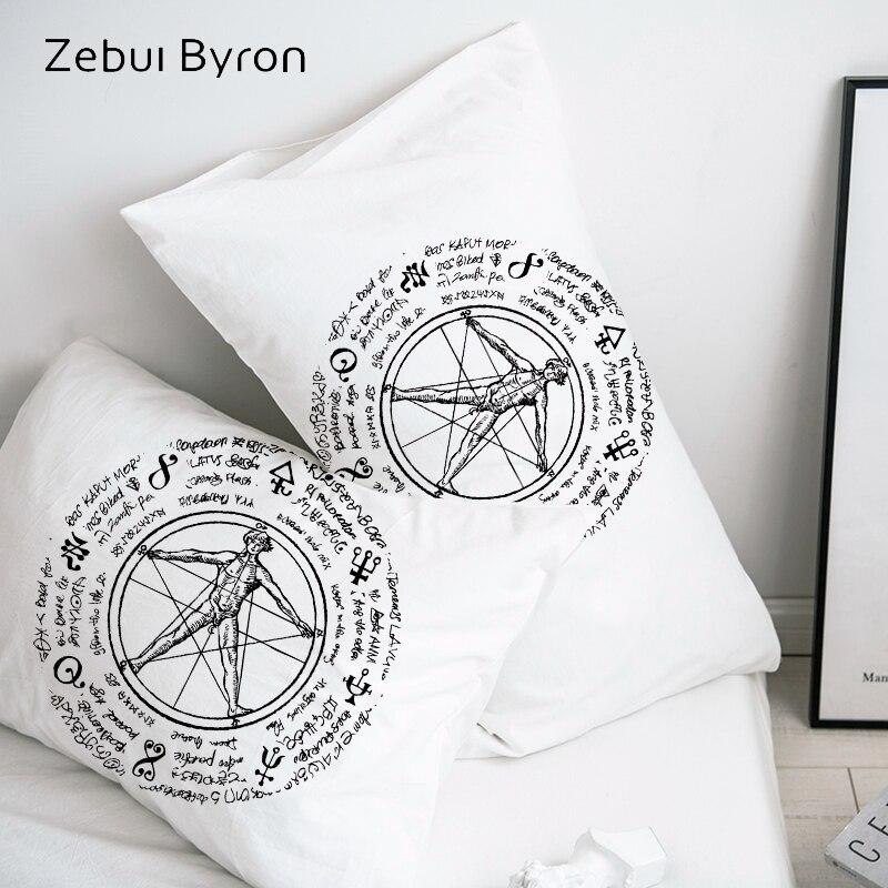 3D Pillow Case Pillowcase Custom/50x70/50x75/50x80/70x70 Decorative Pillow Cover,retro sun in octagonal star Bedding,Drop Ship