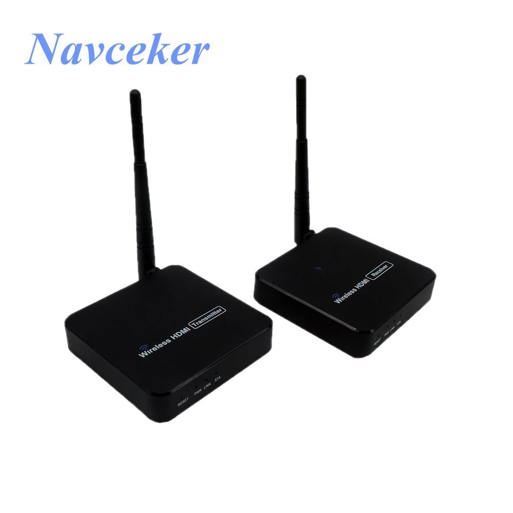 Recibidor transmisor HDMI inalámbrico, 5GHz, compatible con Kit de Extensor de transmisión...