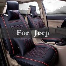 Housse en cuir de qualité supérieure   Housse frontale et arrière de siège de voiture universel pour Jeep Cherokee boussole Grand Srt8