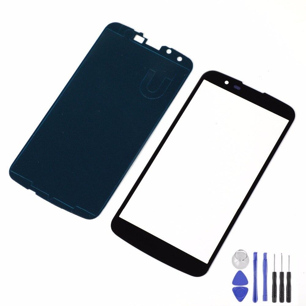 Для LG K10 K410F M2 K430T K420N K430DS ЖК-дисплей передняя стеклянная Сенсорная панель + клей + инструменты (без ЖК-дисплея)