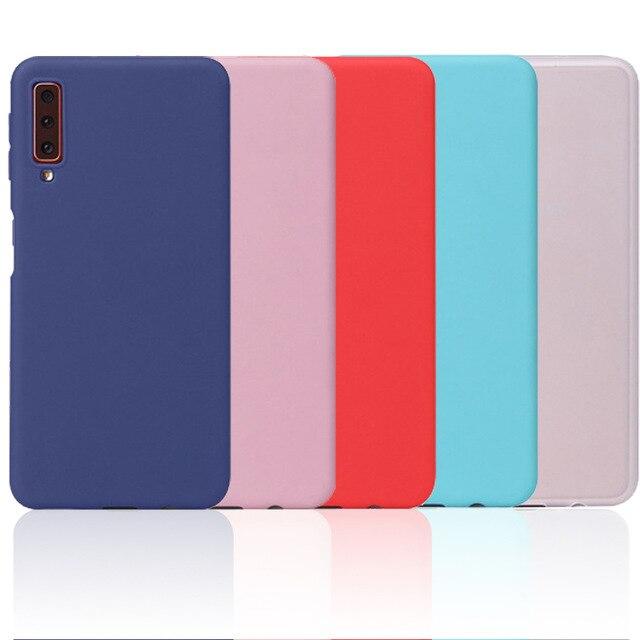 100PCS mate caso de teléfono para Samsung A51 A71 A01 A11 A21 A31 A41 A30 A40 A50 A60 A70 A80 A90 suave TPU caso de la contraportada del Color de