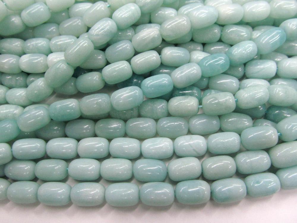 A + натуральный Амазонит бусины ствол трубки Amazon драгоценный камень, полудрагоценный камень, зеленый цвет DIY бусины 8-20 мм Полная прядь