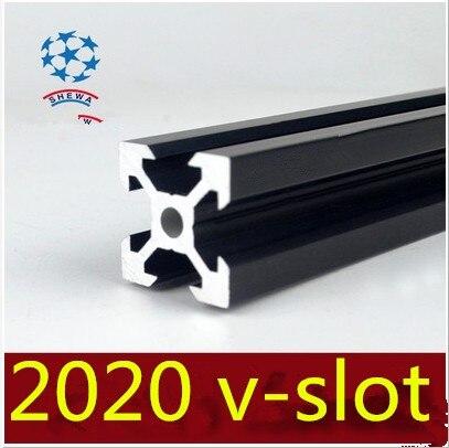 2020 aluminum extrusion profile european standard 2020 v-slot white or black length 550mm aluminum profile workbench 1pcs