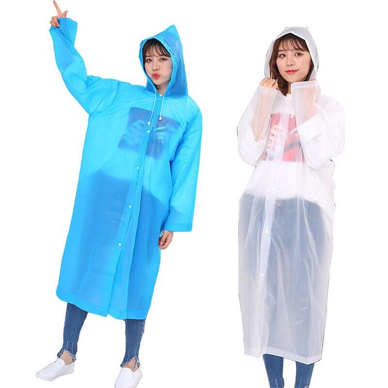 Abrigo de lluvia mujer moda hombres transparente impermeable reutilizable adulto Equipo Impermeable