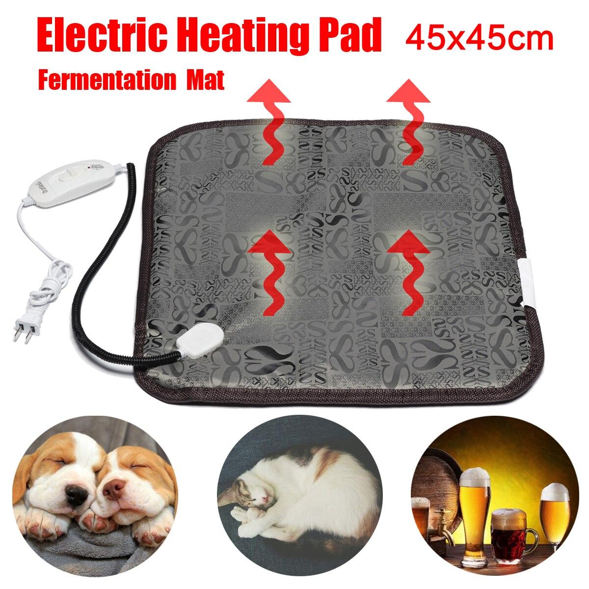 Электрический нагревательный коврик для домашних животных, собак, кошек, зимний теплый коврик для кровати, животных, электрическое одеяло для Домашнего Пива, брожения, нагреватель, коврик