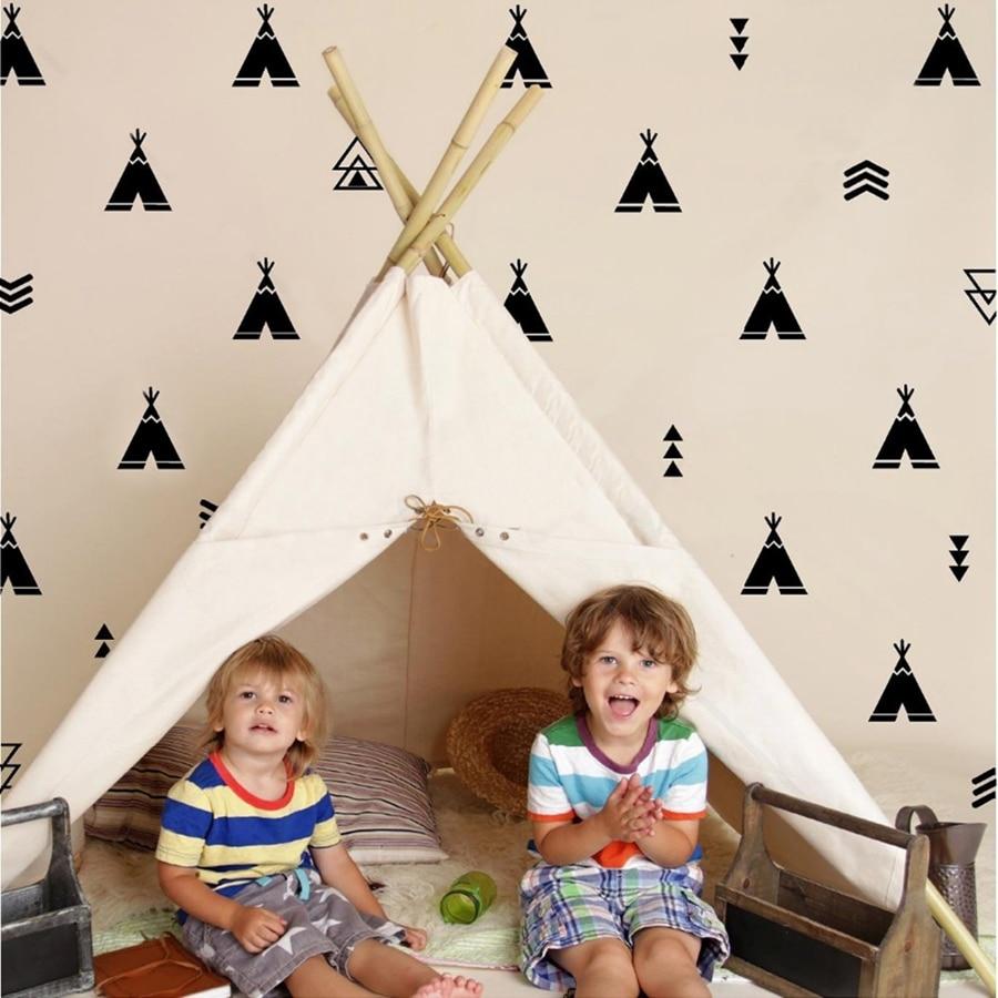 Tipi und Pfeil Wand Decals-T Pee vinyl wand aufkleber Tribal Kindergarten Decor