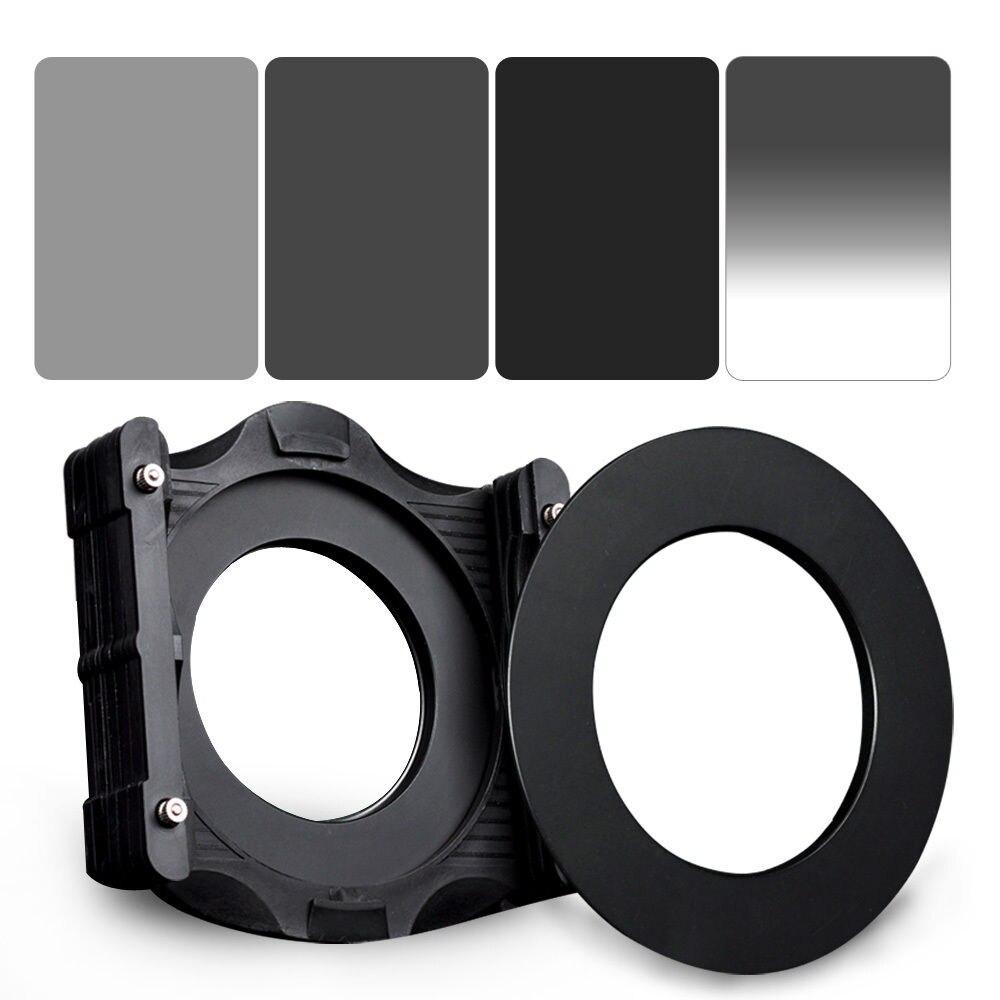 Kit de filtros ZOMEI 6 en 1 anillo de 77mm + soporte + 150x100mm Gradual ND4 + ND2 completo + ND4 + ND8 filtro ND cuadrado de densidad neutra para Cokin Z